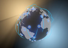 Global city network Royalty Free Stock Image