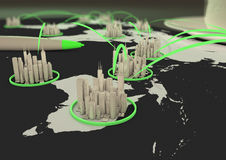 Global City Network Royalty Free Stock Photography