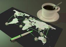 Global city network Stock Photo