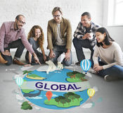 Global Climate Temperature Community Worldwide Concept Royalty Free Stock Image