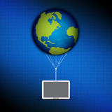 Global cloud computing concept. Global with cloud computing concept Royalty Free Stock Images