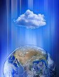 Global Cloud Computing Network. The earth and a cloud computing network Stock Images
