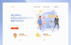 Global Collaboration Network Web Page stock illustration