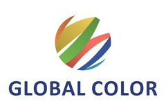 Global color logo Royalty Free Stock Photography