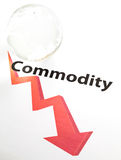 Global commodity drop concept Stock Images