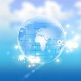 Global communication. Hi-technology background Royalty Free Stock Photography