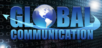 Global communication. And digital world typographical concept Royalty Free Stock Photo
