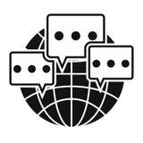Global communication black simple icon Stock Photo