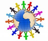 Global communication concept. World partnership. Royalty Free Stock Image