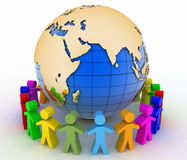 Global communication concept. World partnership Stock Photos