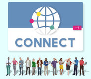 Global Communication Connection Networking Graphic Concept Stock Photo