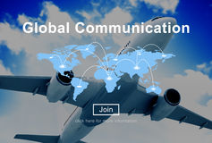 Global Communication Connection Networking Website Concept Stock Photo
