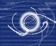 Global communication / data transmission - binary code made Stock Image