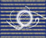 Global communication / data transmission - binary code made Royalty Free Stock Photo