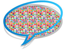 Global communication icon Stock Photos