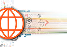 Global communication illustration Stock Photography