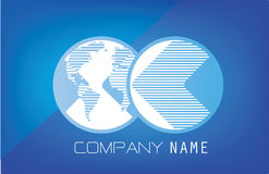 Global Communication logo Stock Images