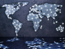 Global communication map Royalty Free Stock Photo