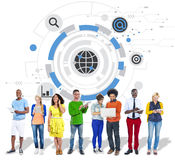 Global Communication Networking Connect Concpet Royalty Free Stock Images