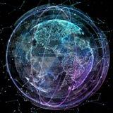 Global communication orbits Stock Image