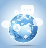 Global communication scheme Royalty Free Stock Photo
