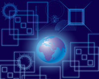 Global Communication and  Shine World. Global Communication ,World and  Modern Technology Stock Photo