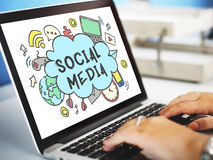 Global Communication Social Media Icon Concept Royalty Free Stock Images