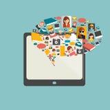 Global communication. Social media illustration. Stock Photo