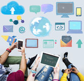 Global Communication Social Media Networking Concept Stock Photo