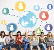 Global Communication Social Media Networking Concept Stock Photos