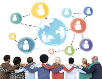 Global Communication Social Media Networking Concept Royalty Free Stock Photos