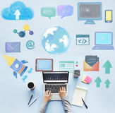 Global Communication Social Media Networking Concept Royalty Free Stock Images