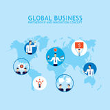 Global Communication Social network Partnership Success of business people concept Royalty Free Stock Image