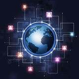 Global Communication Technology Background Royalty Free Stock Image