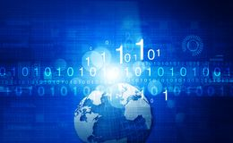 Global communication technology background. Digital illustration Royalty Free Stock Photo