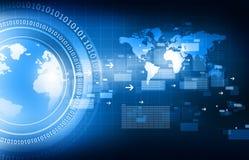 Global communication technology. Background. Digital illustration Royalty Free Stock Photography