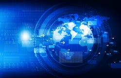 Global communication technology. Background. digital illustration Royalty Free Stock Photos