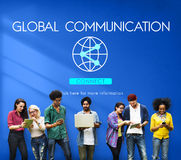 Global Communication Technology Internet Connect Concept Stock Images