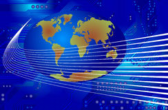 Global communication - vector Royalty Free Stock Images