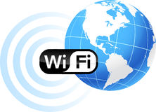 Global Communication with wifi Stock Photo