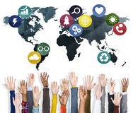 Global Communication World Earth Connection Network Concept Stock Images