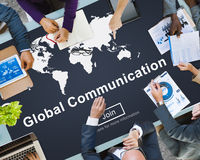 Global Communication Worldwide Website Homepage Concept Royalty Free Stock Image