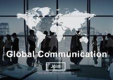 Global Communication Worldwide Website Homepage Concept stock photography