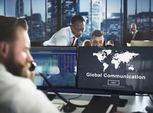 Global Communication Worldwide Website Homepage Concept Royalty Free Stock Photos