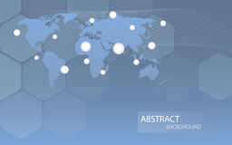 Global communicational channels background. Vector illustration Royalty Free Stock Image