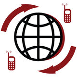 Global communications royalty free illustration