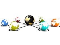 Global communications Stock Images