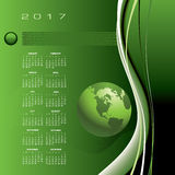 A 2017 global communications calendar. For print or web Stock Photography