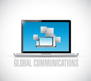 Global communications concept with electronics Royalty Free Stock Photos