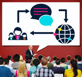 Global Communications Connection Social Networking Concept.  Stock Photos